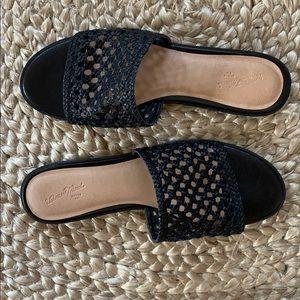 Women's Black Slip On Sandals